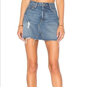 GRLFRND denim skirt in EVA